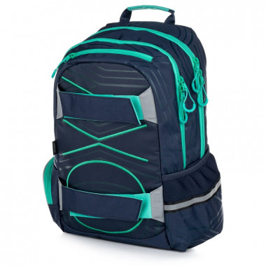 Batoh student Oxy Sport Pastel Line green